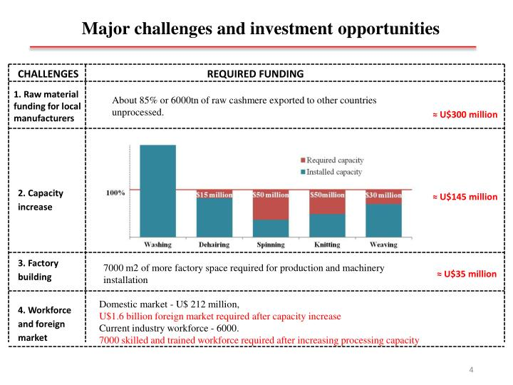 Major challenges and investment opportunities