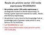 resale ats pristine sector 150 noida expressway 99100064541