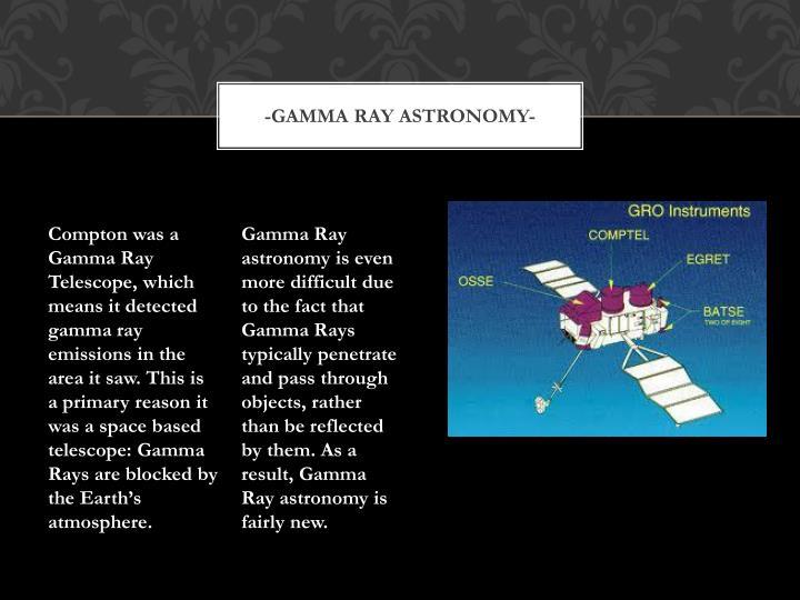 Gamma ray astronomy