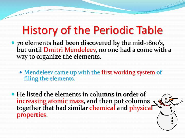 Ppt periodic table and periodic trends powerpoint presentation history of the periodic table urtaz