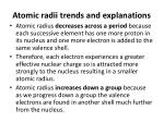 atomic radii trends and explanations