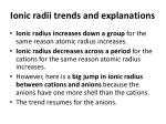 ionic radii trends and explanations