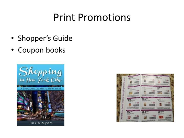 Print Promotions