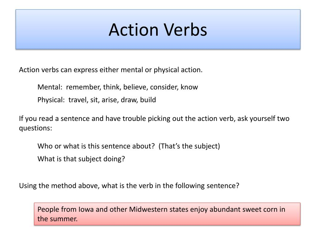 PPT - Verbs PowerPoint Presentation, free download - ID:2823890