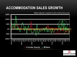 accommodation sales growth