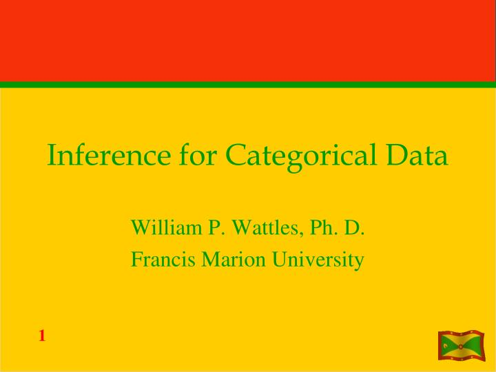 inference for categorical data n.