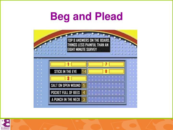 Beg and Plead