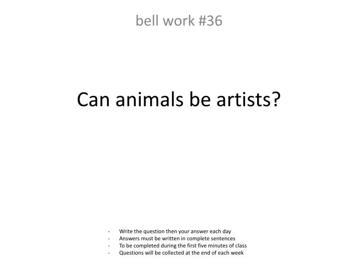 Can animals be artists?