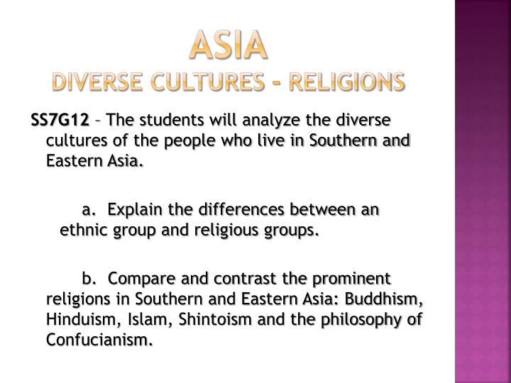 Asia diverse cultures religions