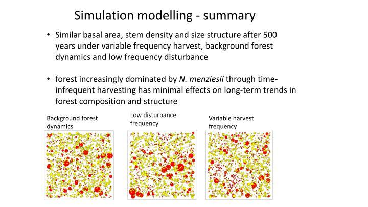 Simulation modelling - summary