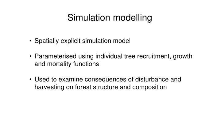 Simulation modelling