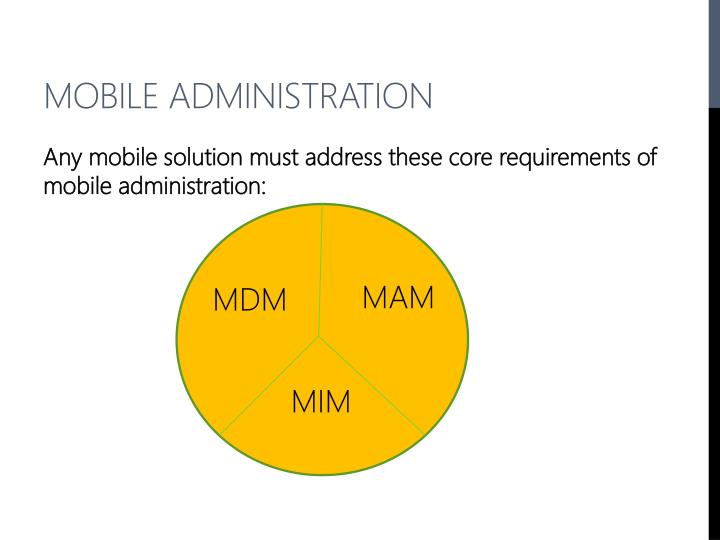 Mobile Administration