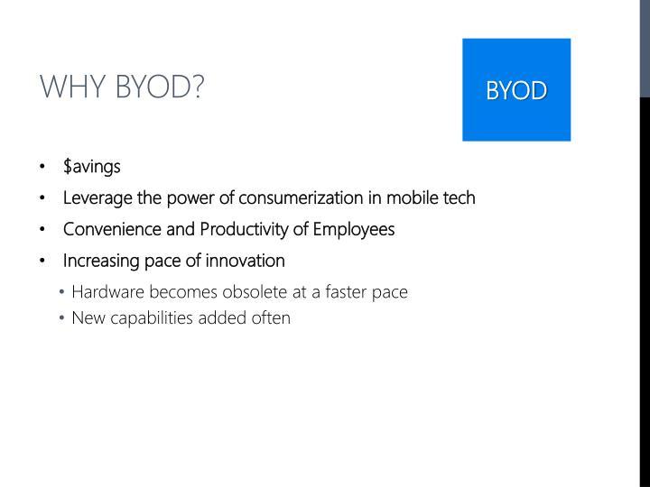 Why BYOD?