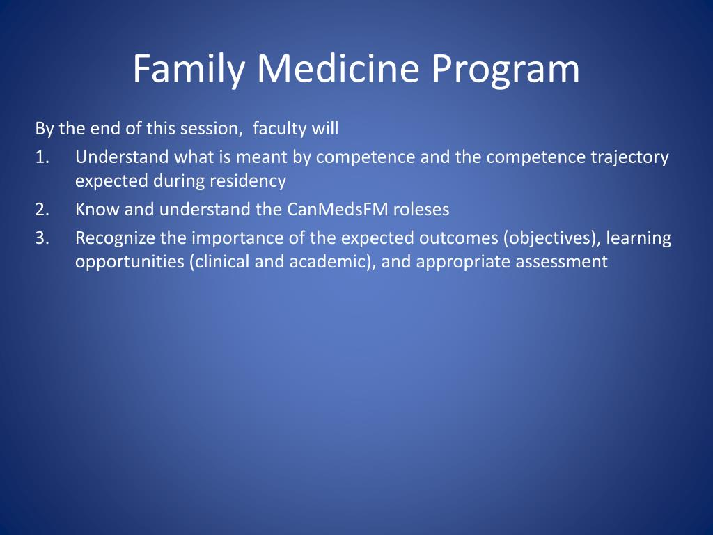 ppt - family medicine program powerpoint presentation