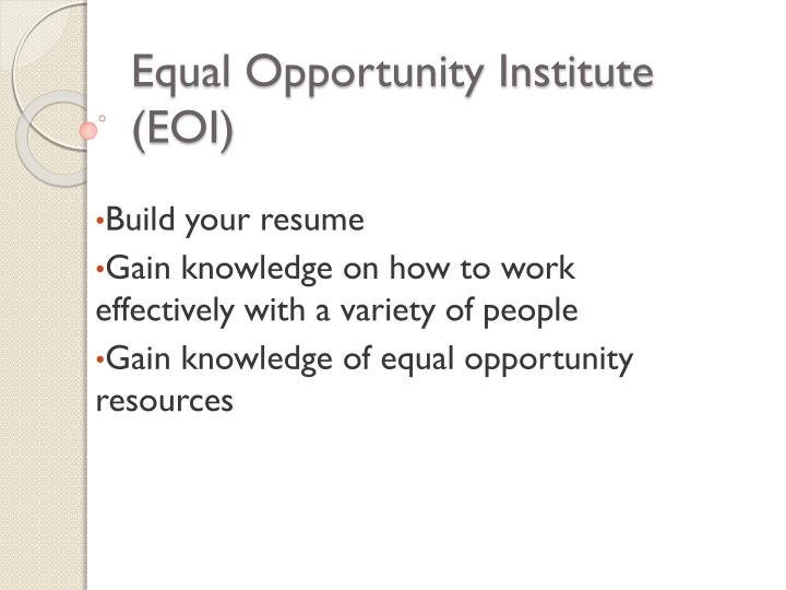 what is meant by equal opportunities essay The presumption that guides much of the conversation is that equal opportunity now exists therefore, continued low levels of achievement on the part of minority students must be a function of.