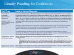 identity proofing for certificates3
