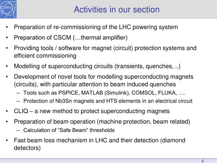 Preparation of re-commissioning of the LHC powering system