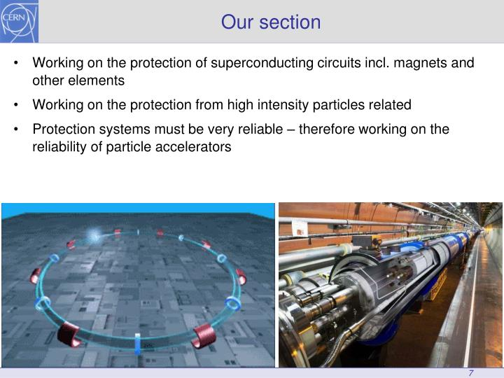 Working on the protection of superconducting circuits incl. magnets and other elements