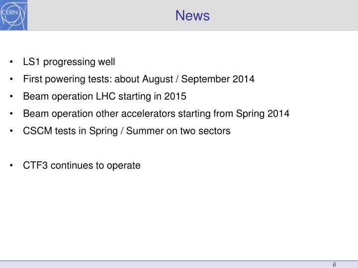 LS1 progressing well
