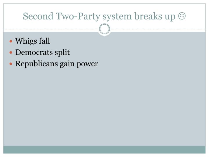Second Two-Party system breaks up