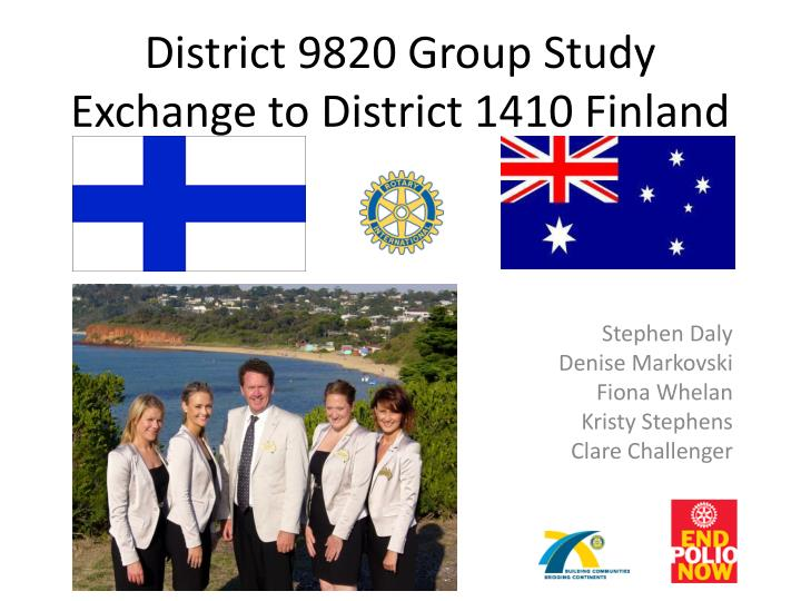 district 9820 group study exchange to district 1410 finland