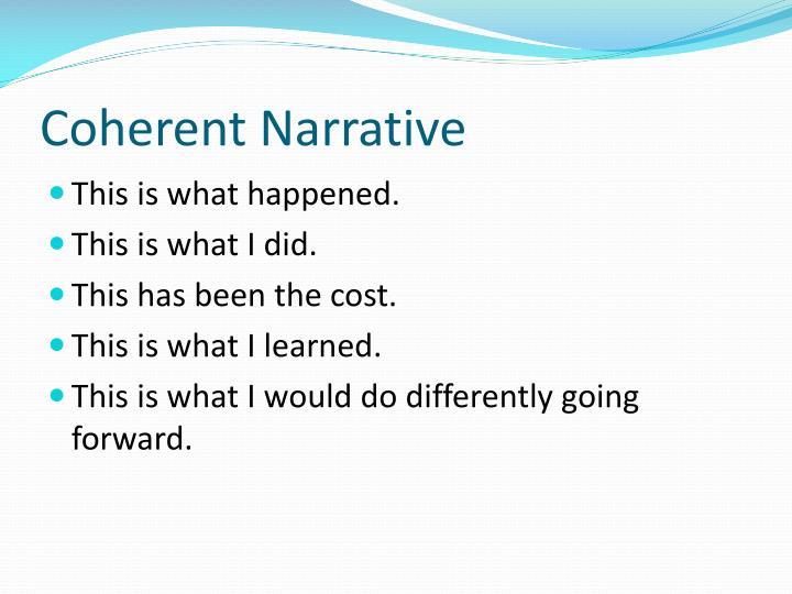 Coherent Narrative
