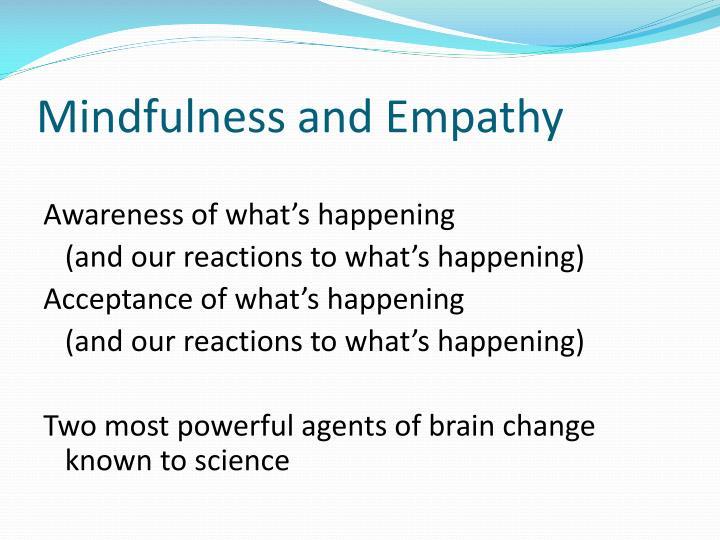 Mindfulness and Empathy