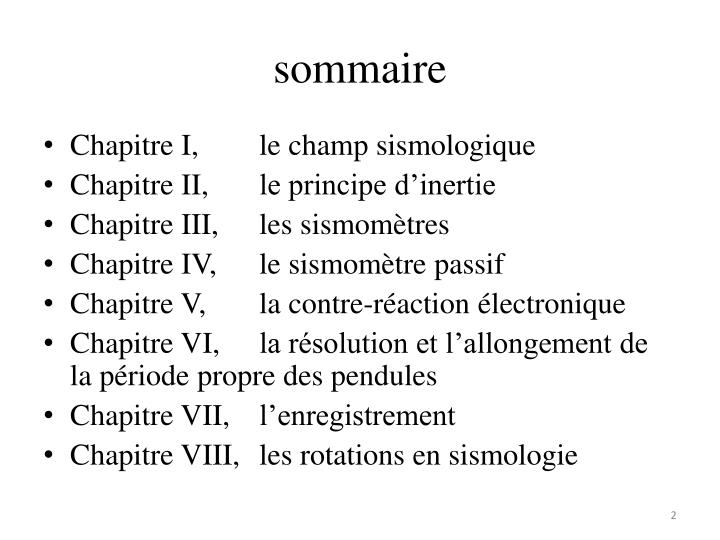 S ommaire