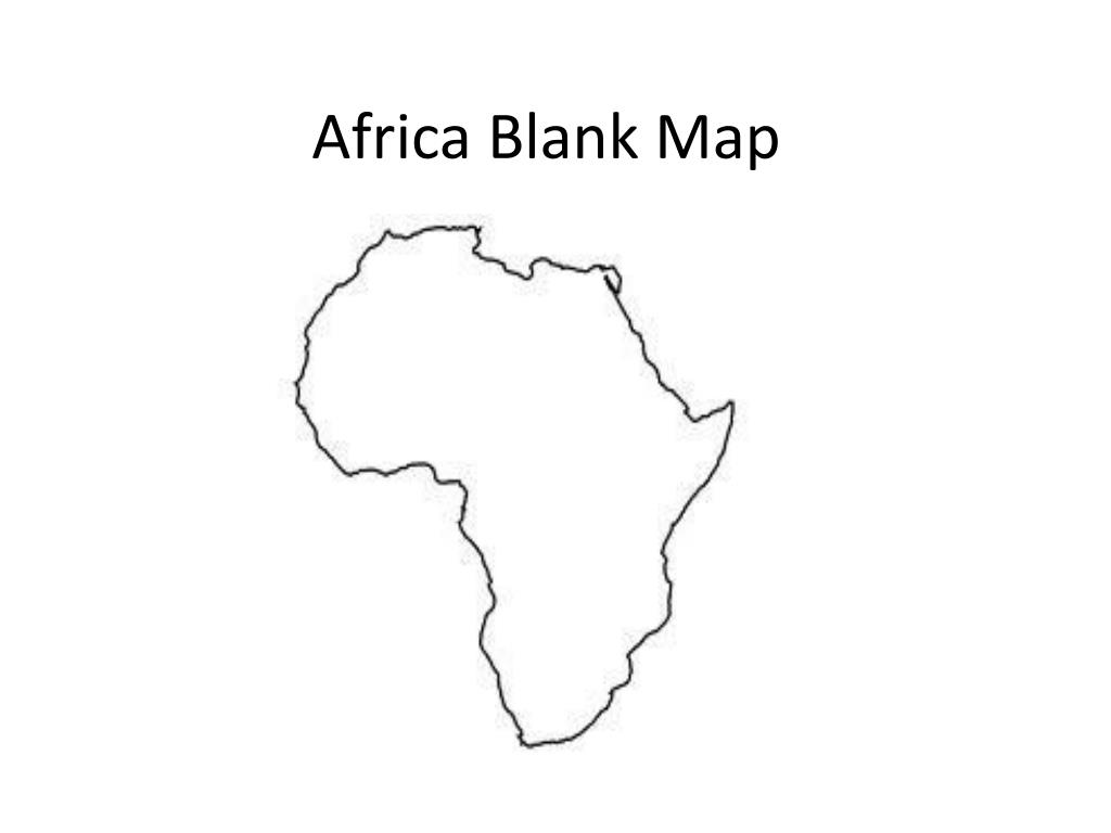 Picture of: Ppt Africa Blank Map Powerpoint Presentation Free Download Id 2825360