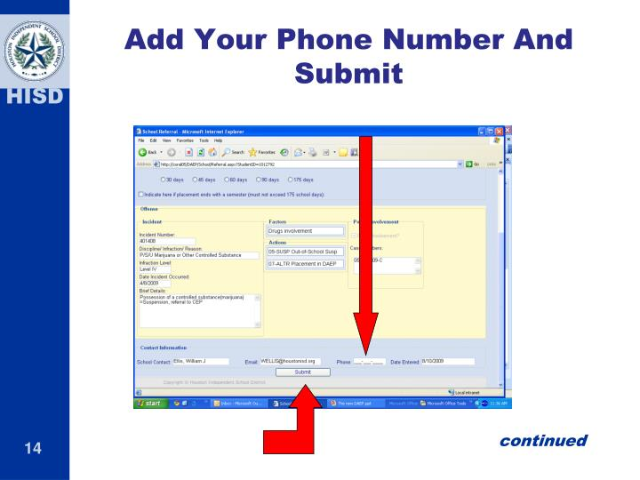 Add Your Phone Number And Submit