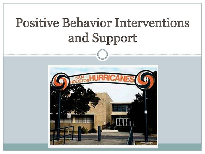 positive behavior interventions and support n.