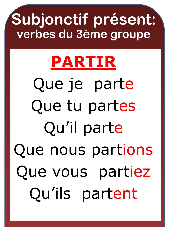 Ppt Subjonctif Present Verbes Du 1 Er Groupe Powerpoint Presentation Id 2825531