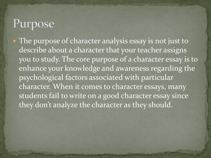 What is the purpose of a descriptive essay