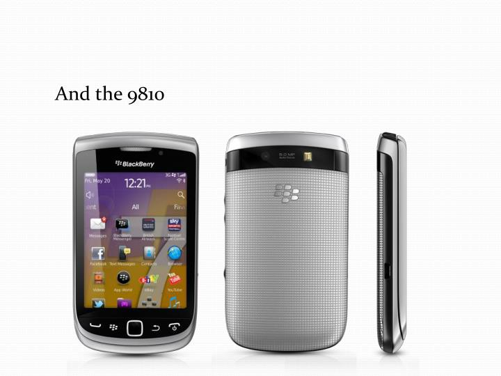 And the 9810