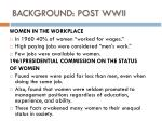 background post wwii