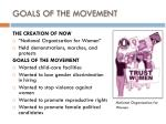goals of the movement