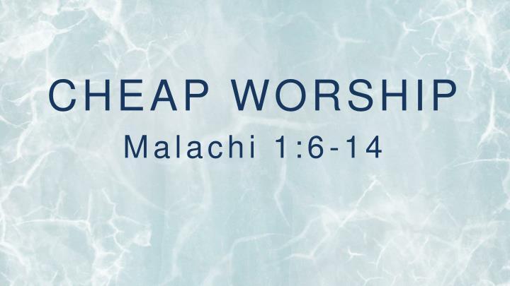 CHEAP WORSHIP