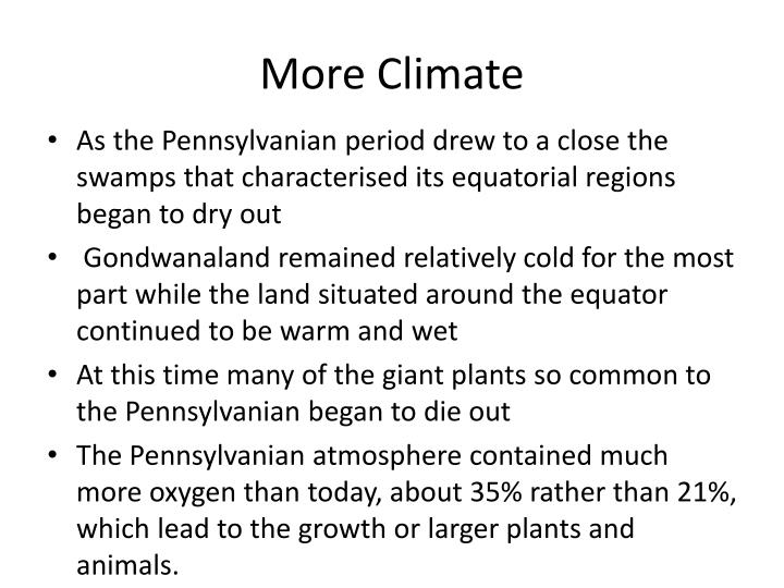 More Climate