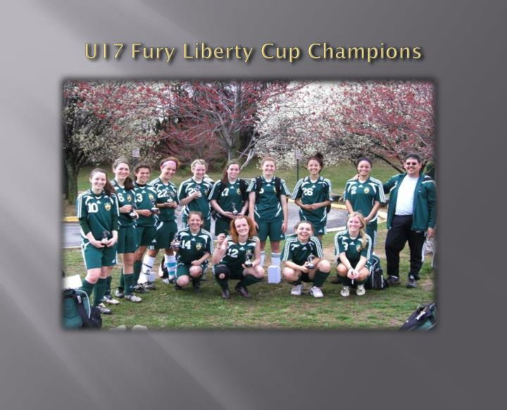 U17 Fury Liberty Cup Champions