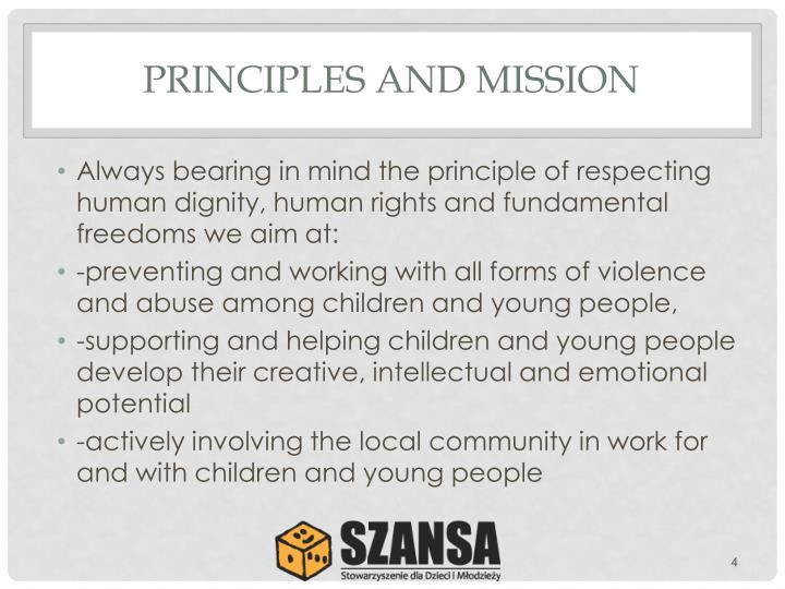 PRINCIPLES AND MISSION