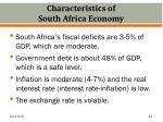characteristics of south africa economy
