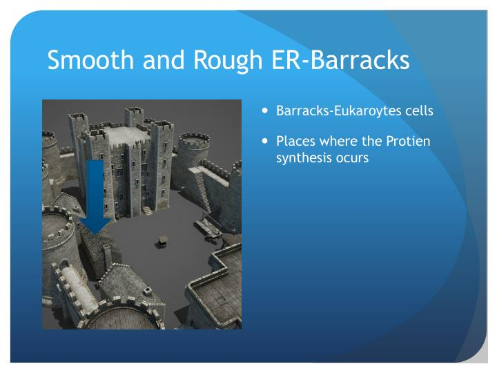 Smooth and Rough ER-Barracks