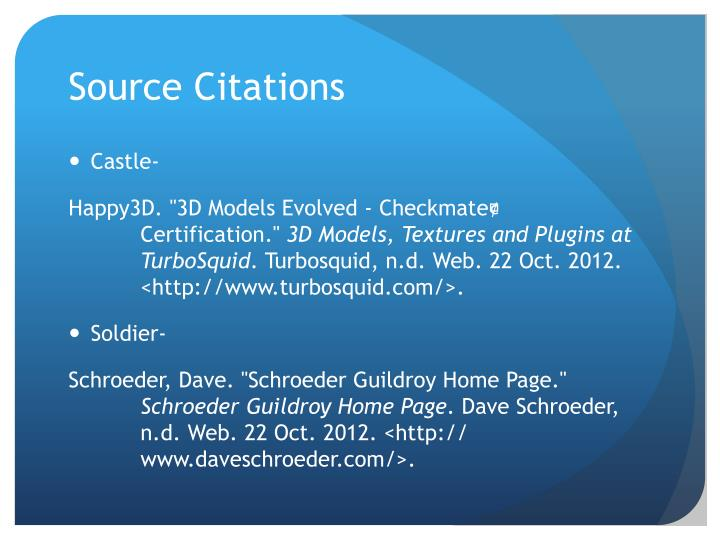 Source Citations
