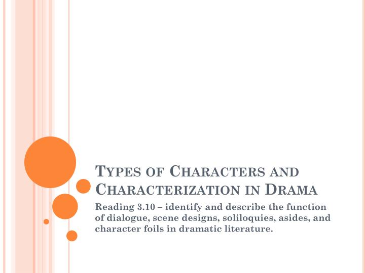 character identification in drama essay Almost all modern essays are written in prose, but works in verse have been dubbed essays (eg, alexander pope's an essay on criticism and an essay on man) while brevity usually defines an essay, voluminous works like john locke's an essay concerning human understanding and thomas malthus's an essay on the principle.