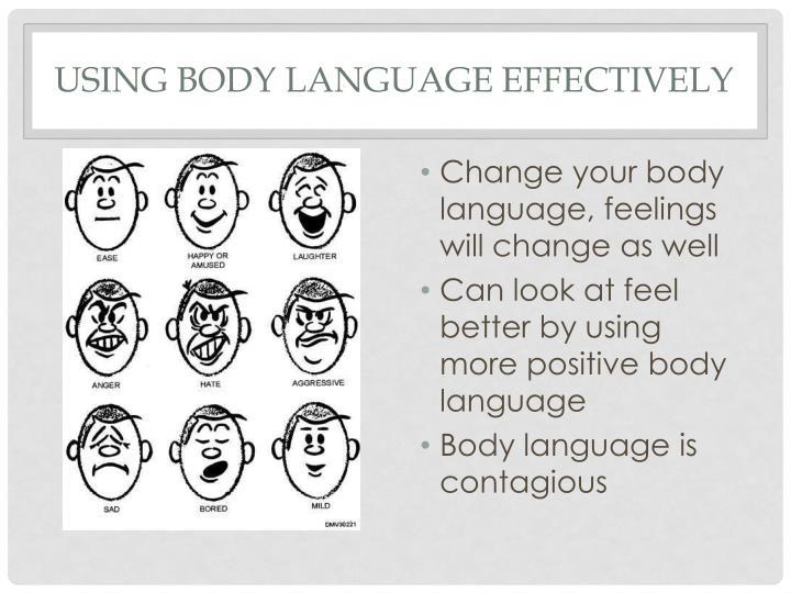 Using body language effectively
