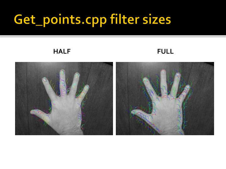 Get_points.cpp filter sizes