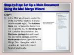 step by step set up a main document using the mail merge wizard11