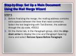 step by step set up a main document using the mail merge wizard17