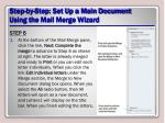 step by step set up a main document using the mail merge wizard19