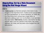 step by step set up a main document using the mail merge wizard7